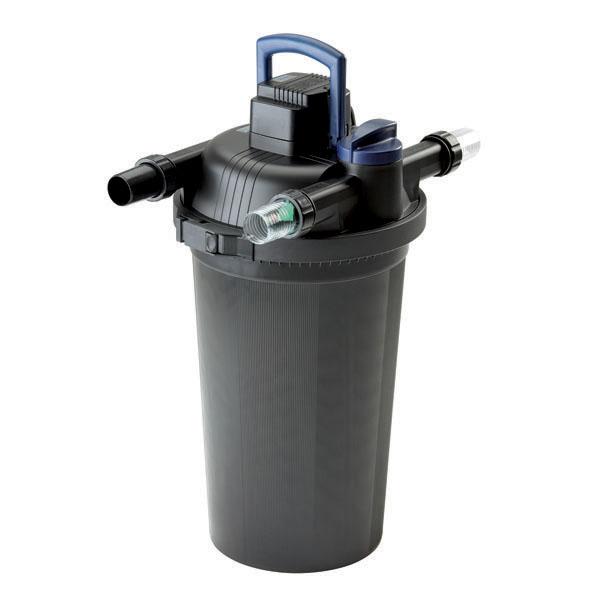 Oase filtoclear 8000 pressurized filter 55w uv koi smart for Kit filtration oase